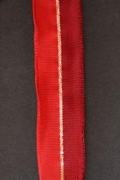 Pirol rot mit Goldstreifen 25 mm 20 m