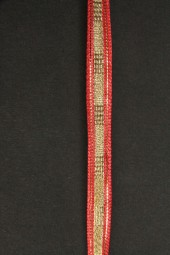 Sambia rot gold mit Drahtkante 8 mm 20 m