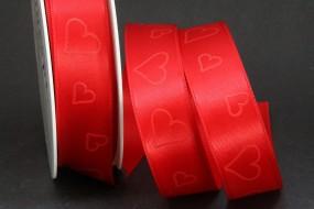 Romantic rot Herzen rot 25 mm 25 m