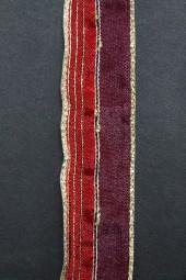 Strip rot mit Goldrand mit Drahtkante 25 mm 15 m