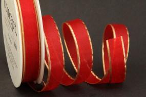 Prestige rot mit Goldrand 15 mm 25 m