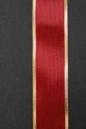 Prestige rot mit Goldrand 25 mm 25 m