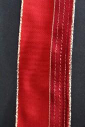 Belarus rot gold mit Drahtkante 40 mm 20 m