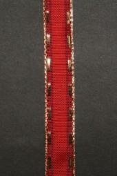 Moritz rot mit Goldrand 15 mm 20 m