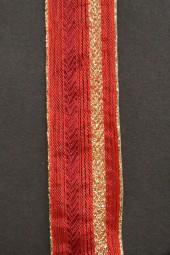 Montblanc rot mit Goldrand Drahtkante 25 mm 20 m
