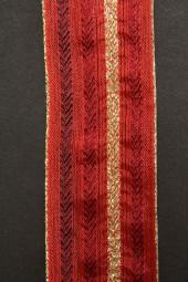 Montblanc rot mit Goldrand Drahtkante 40 mm 20 m