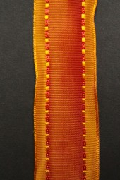 Emmerich rot orange mit Drahtkante 40 mm 20 m