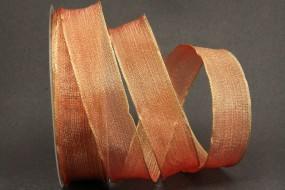 Sample rot gold mit Drahtkante 25 mm 25 m
