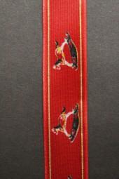 Schaukelpferd rot mit Drahtkante 25 mm 20 m