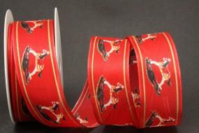 Schaukelpferd rot mit Drahtkante 40 mm 20 m