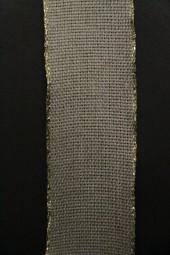 Magma Leinenband hellbraun mit Goldrand 40 mm 20 m