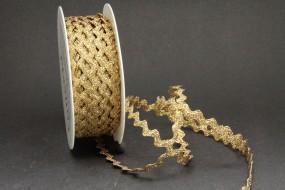 Zackenlitze gold 10 mm 25 m