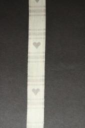 Herzen Leinen weiss silber 15 mm 20 m