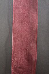 Organza dunkelrot mit Drahtkante 40 mm 20 m