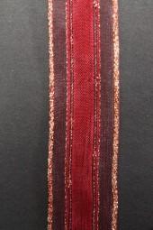 Pascal dunkelrot mit Goldrand 25 mm 20 m