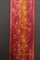 Signal burgundy gold mit Drahtkante 40 mm 20 m