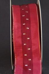 Perl burgundy gold 40 mm 20 m