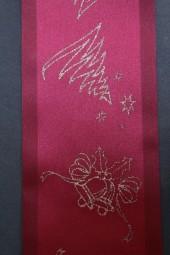 Tischband rot Sterne gold 100 mm 3 m