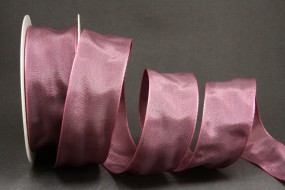 Purple lila pink mit Drahtkante 40 mm 25 m