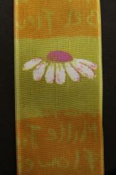 Karianne Blumenmotiv gelb 40 mm 15 m