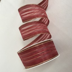 Ares mit Goldrand rot gold 40 mm 20 m mit Drahtkante