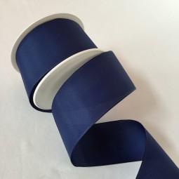 Uniband Lua dunkelblau mit Drahtkante 60 mm 25 m
