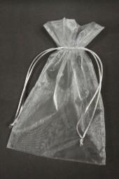 Organza-Säckchen grau 12 x 17 cm