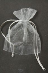 Organza-Säckchen grau 9 x 12 cm