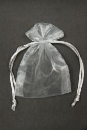 Organza-Säckchen grau 7 x 10 cm