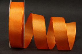 Uniband Basic orange mit Draht 25 mm 25 m