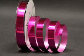 Metallicband pink 15 mm 25 m