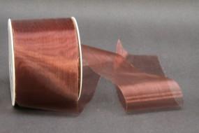Organza geschnitten dunkelbraun 69 mm