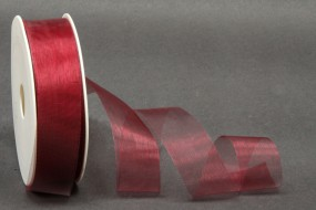 Organza geschnitten burgundy 25 mm