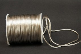 Seidenkordel beigesilber 2 mm 100 Meter
