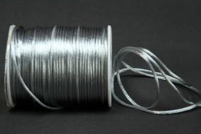 Seidenkordel silbergrau 2 mm 100 Meter