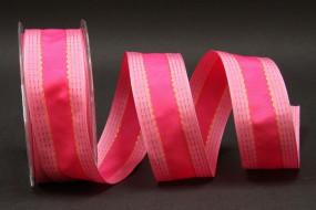 Sparkle pink mit Drahtkante 38 mm 20 m