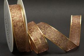 Gold Dust Art braun Girlandenmotiv gold 25 mm 25 m