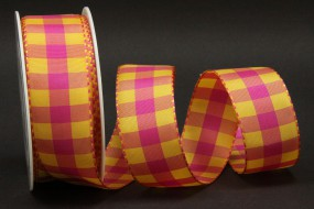 Chester Karo pink gelb 40 mm 25 m