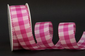 Chester Karo pink weiss 40 mm 25 m