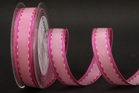 Romantik pink weiss 25 mm 25 m