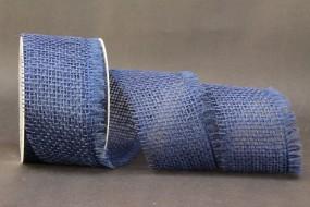 Jute Gitterband dunkelblau 60 mm 10 m